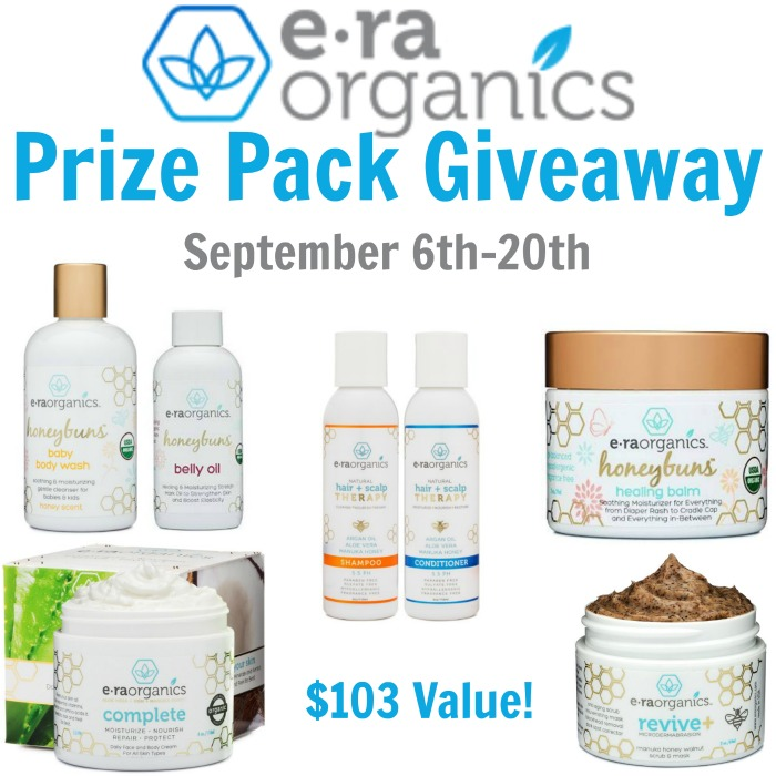 Post image of Era Organics Giveaway- Ends 9-20-16