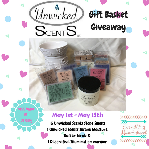 Post image of Win a $155 Gift Basket from Unwicked Scents- Ends 5-15-18